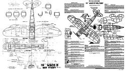 Waco D Pursuit model airplane plan