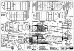 Waco UIC 1932 FSI-W2 model airplane plan