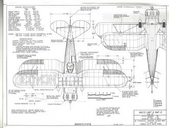 Waco UMF-5 YMF-5 model airplane plan