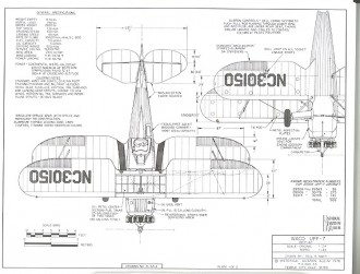 Waco UPF-7 model airplane plan