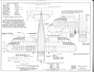 Waco YKF-6 model airplane plan