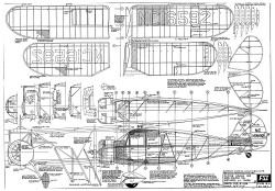Waco YKS-6 model airplane plan