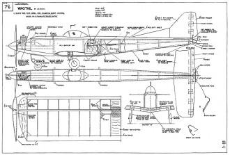 Wagtail model airplane plan