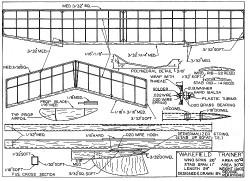 Wakefield Trainer model airplane plan