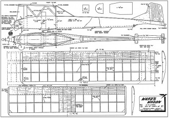Wards Wagon model airplane plan
