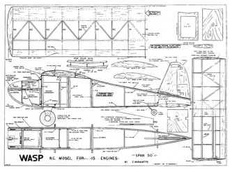 Wasp model airplane plan