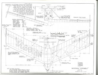 Waterman Arrowbile model airplane plan