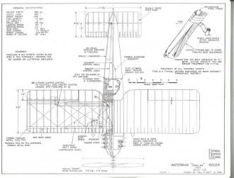 Waterman Gosling Racer model airplane plan