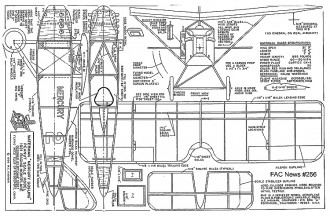 "Waterman ""Mercury Gosling"" model airplane plan"