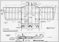 Werewolf model airplane plan