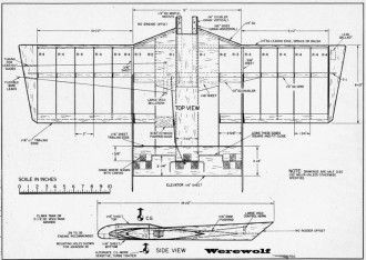 Werewolf 36in model airplane plan
