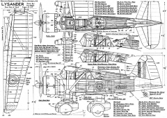 Westland Lysander model airplane plan