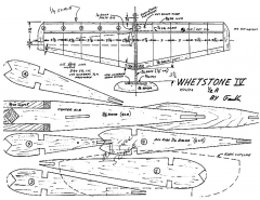 Whetstone IV CL model airplane plan