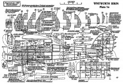 Whitworth Siskin model airplane plan