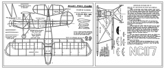 Wiley Post Biplane model airplane plan