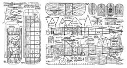 Wonder Wings bipe model airplane plan