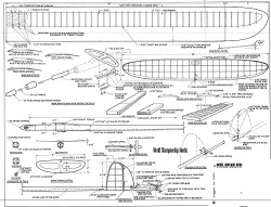 Continental - World Championship Nordic A2 model airplane plan