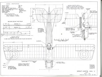 Wright-Martin Model V model airplane plan