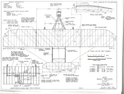 Wright Brothers 1903 Flyer model airplane plan