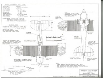Wright F2W-1 Racer model airplane plan