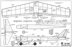 XF-226 RCM-375 model airplane plan