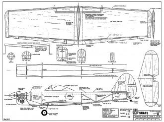 XP-40Q Snafu model airplane plan