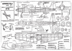 XP 81 model airplane plan