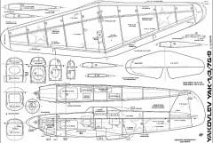 Yak 1 3 7 9 twelfth model airplane plan
