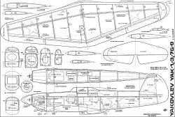 Yak 1 3 7 9 twelfth model airplane plan
