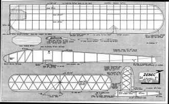 Zebec model airplane plan