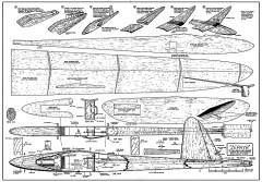 Zephyr AAM model airplane plan