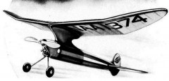 Zipper model airplane plan