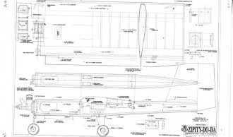 Zipity-Do-Da model airplane plan