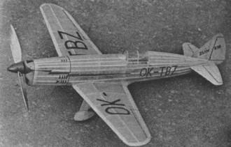 Zlin XIII model airplane plan