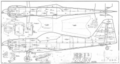 Zlin Z-50L MK model airplane plan