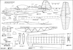 Zlin z226 Trener model airplane plan
