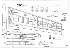 Zonk slope model airplane plan