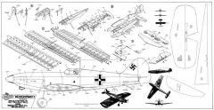 Messerschmidt Bf-109 model airplane plan
