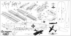 Messerschmidt Bf-109 model airplane plan