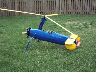 Kellett Autogyro model airplane plan