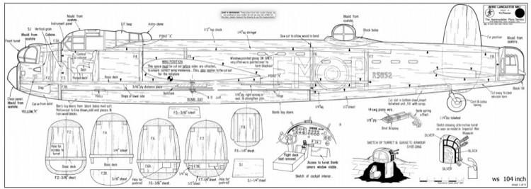 Avro Lancaster MK1 model airplane plan