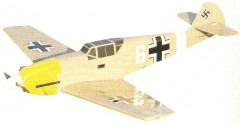 BF-109 WW II Messerschmitt model airplane plan