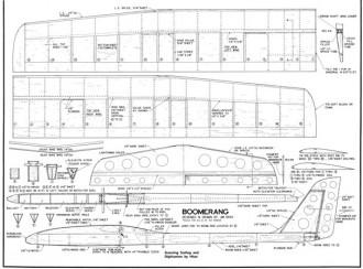 Boomerang model airplane plan