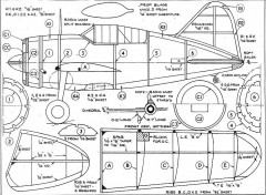 Brewster Buffalo 2 model airplane plan