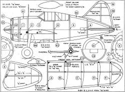 Brewster Buffalo 2 model airplane plan
