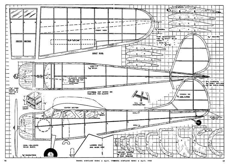 Cessna 195 model airplane plan