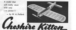 Chesire Kitten model airplane plan