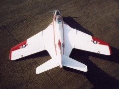 Grumman Cougar F9-F8 model airplane plan