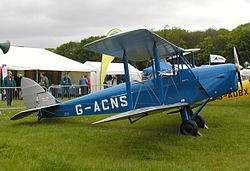 De Havilland Moth model airplane plan