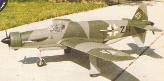 Dornier-335 model airplane plan